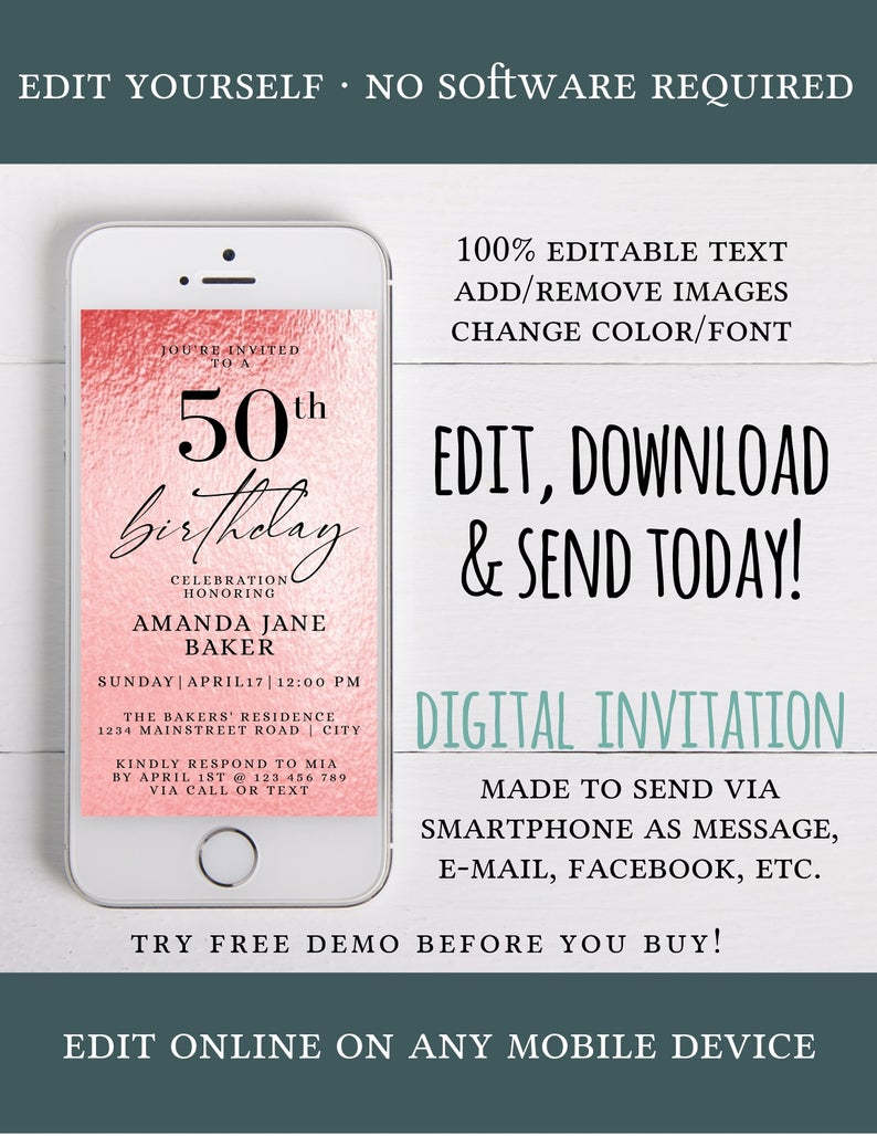 Easily Edit INSTANT DOWNLOAD 0142 Editable Zoom Virtual Birthday Invitation Template Firetruck Party Download and Print or Email Today